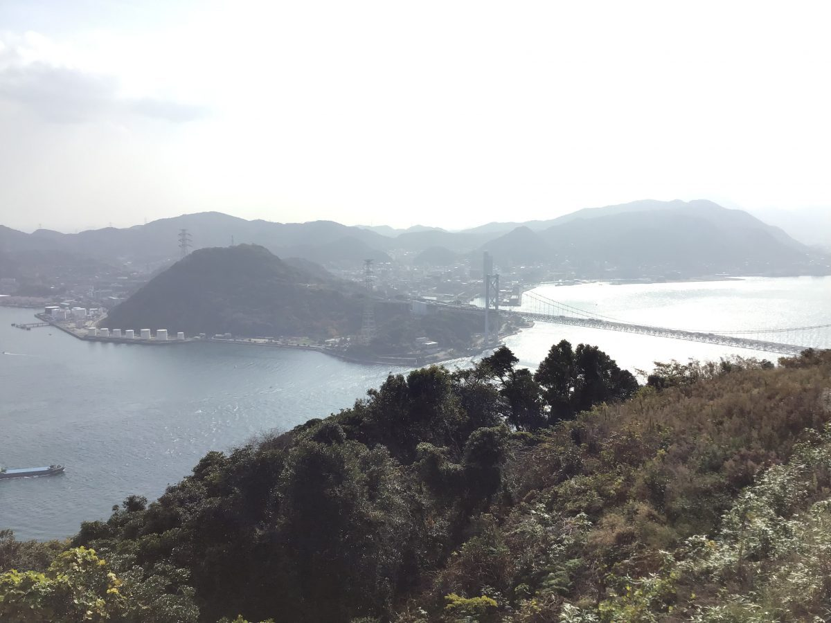 下関火の山展望台 門司城